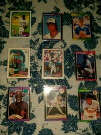 9 baseball cards from 1989. All mint  Toms River, 08755