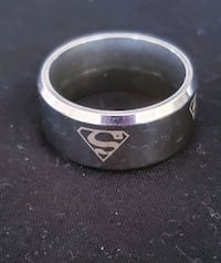 Stainless steel Superman ring size 9 Millbrook, L0A 1G0