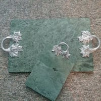 Green Marble serving trays