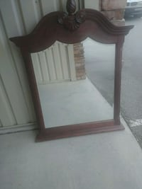 Reddish Brown mirror with Dresser and Nightstand