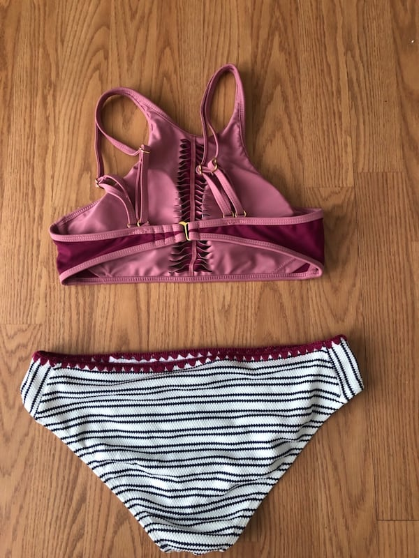 Two-piece swim suit  e3d98395-00f2-4c49-80cd-7ca4b8e98d14