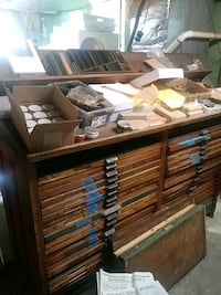 Antique printing table