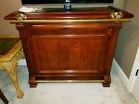 Dark Brown bar with shelving back, brass features  Brentwood