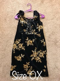 black and yellow floral sleeveless dress Campbell, 95008