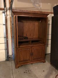 brown wooden cabinet with shelf Sterling, 20166