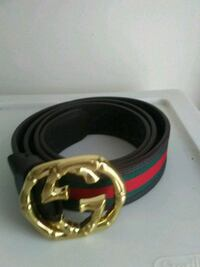 gold-colored Gucci buckle with brown leather belt Ottawa, K1V 1C1