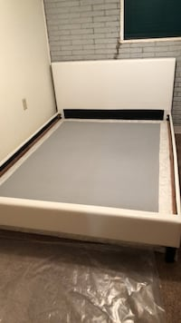 White Queen Bed Frame Wood River, 62095