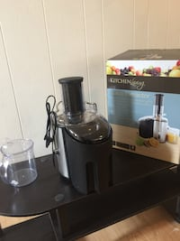 Gray and black kitchen living juice extractor with box Fairfax, 22032