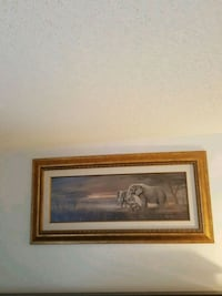 Gold medal framed painting of elephant family  Arlington, 22202