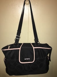 great condition carters bag black and pink , 10460