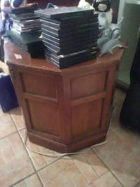 brown wooden end table with doors chest Houston, 77090