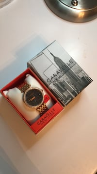 Caravelle rose gold watch