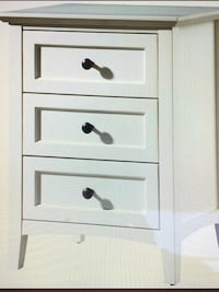 White Zeppelin 3 Drawer Nightstand (Set of 2) Washington, 20001