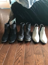 four pairs of black leather boots Waterdown, L8B 0L8