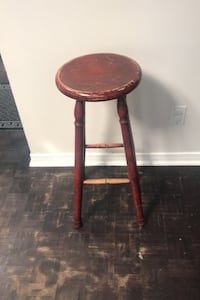 3 solid wood stools sold separately  Toronto, M4M 1G4