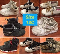 Boys Shoes Size 13C Nike, Jordans, Vans