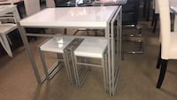 Small White Table Little Damaged With Stools  Phoenix, 85018