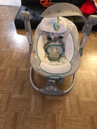 Baby's white and gray swing chair Severn, 21144