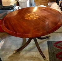 Antique Wood Inlaid Table Lyons, 80540