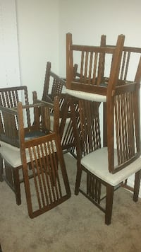 brown wooden dining chairs