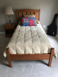 Solid Wood Twin Bed (two for sale) 27 km