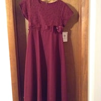 red cap-sleeved maxi dress