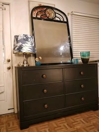 Solid wood black modern HOME COURT dresser with mirror & big drawers i Annandale, 22003