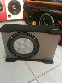 Powerbass 25cm mini silim kabin bass