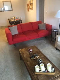 Red fabric 3-seat sofa Germantown, 20874