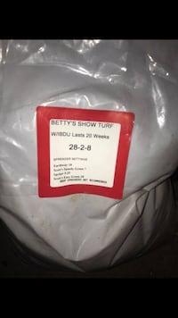 New Lawn fertilizer - Betty's Show Turf - Paid $45 Sterling, 20164