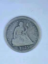 1875 Liberty Seated Twenty Cent coin  Milton, 02186
