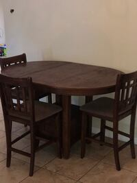 brown wooden table with four chairs dining set Orlando, 32829