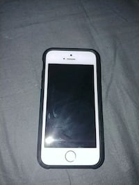 silver iPhone 5s with black case 731 km