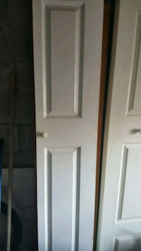a pair of bifold closet door