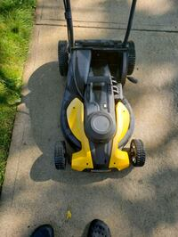 Worx brand electric mower ( in storage for the winter )