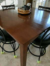 rectangular brown wooden table with six chairs dining set Culpeper, 22701
