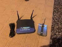 Linksys wireless router with range extender Vaughan