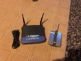 Linksys wireless router with range extender