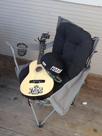 black and gray camping chair and beige acoustic guitar Boise, 83704