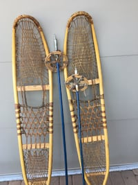 pair of brown snow shoes wuth blue snow ski pools Mesa, 85207