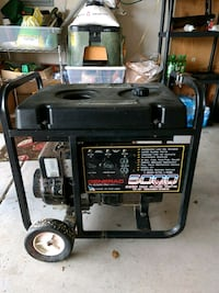 black and gray portable generator