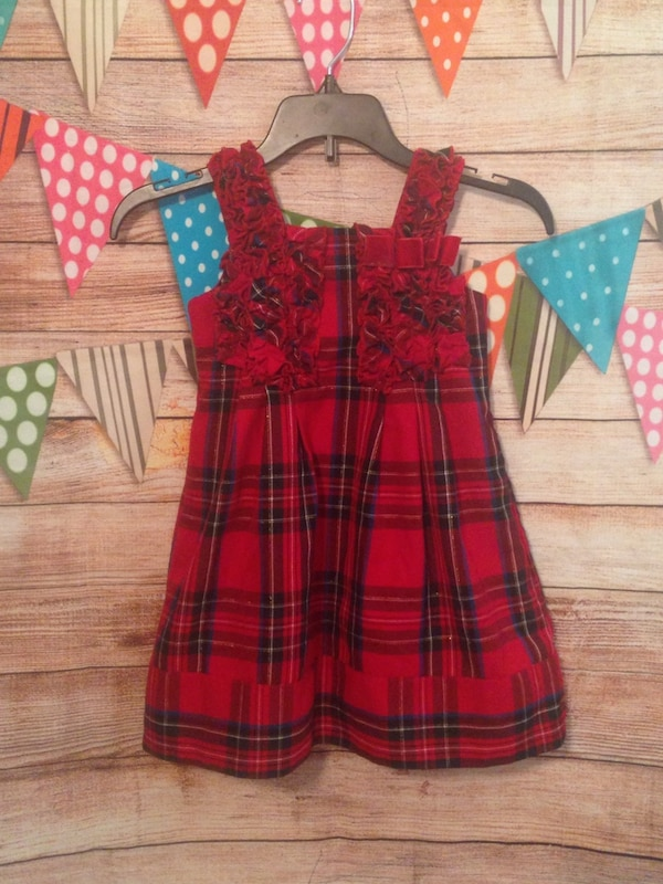 childrens place plaid christmas dress 3t
