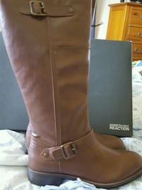 pair of brown leather knee-high boots 826 mi