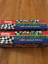 Getty toy race car carrier
