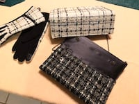 New winter gloves with 2 matching clutch purses.  London, N5Y 4A6