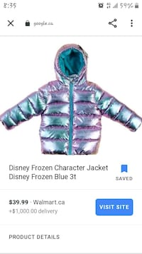 Disney's Frozen Winter Coat
