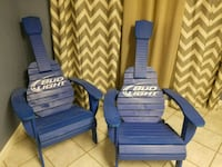two blue and white stripe padded armchairs Nashville, 37115