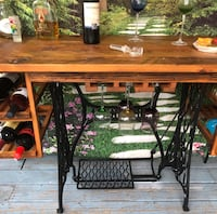 Natural Wood Wine Table