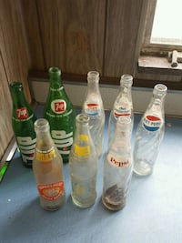 Pepsi, tab, and 7UP glass bottles Pittsburgh, 15237