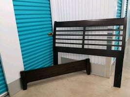Head board and bed frame.  Queen size.